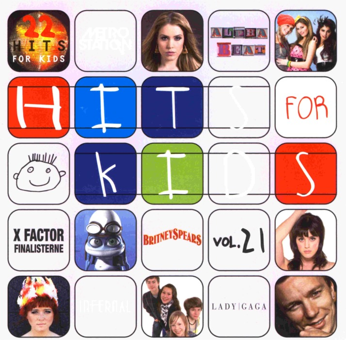 hits for kids 21 cd forside